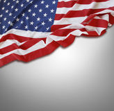 Flag. Closeup of American flag on grey background Stock Image