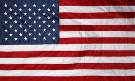 Flag. Closeup of new American flag Royalty Free Stock Image