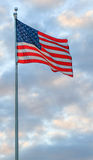 Flag and Clouds Royalty Free Stock Photography