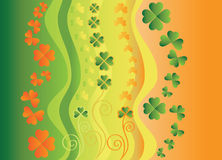 Flag with clover leaves. Stock Image