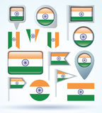 Flag collection of India, vector illustration. Stock Image