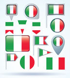 Flag collection of Italy, vector illustration. Stock Photography