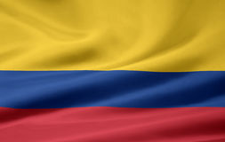 Flag of the Colombia royalty free illustration
