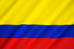 Flag of Colombia Stock Image