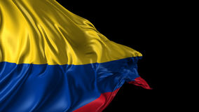 Flag of Colombia stock footage