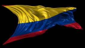 Flag of Colombia stock video