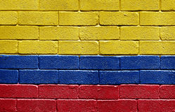 Flag of Colombia on brick wall Royalty Free Stock Photography