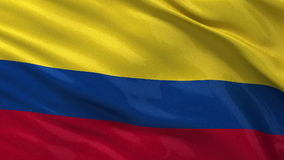 Flag of Colombia seamless loop Royalty Free Stock Photos