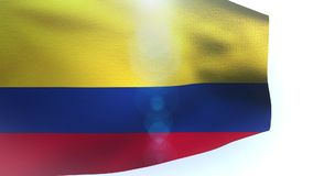 Flag of Colombia waving in the wind wave. Video stock footage