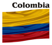 Flag of Colombia with a word vector illustration