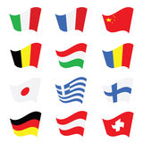 Flag color vector art illustration Royalty Free Stock Images