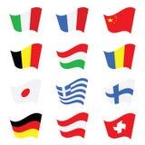 Flag color vector art illustration. Flag color vector illustration on a colorful Royalty Free Stock Images