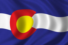 Flag of Colorado. Waving in the wind Royalty Free Stock Image