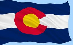 Flag of Colorado, USA stock image