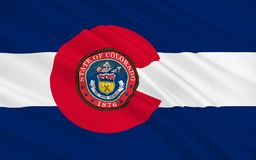 Flag of Colorado, USA royalty free illustration