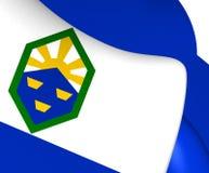 Flag of Colorado Springs, USA. Stock Photo