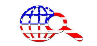 Flag colors. American flag colored search the web logo Royalty Free Stock Photography
