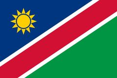Flag in colors of Namibia,  image. Stock Photography