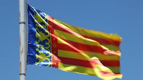 Flag of the Community of Valencia stock footage