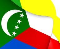 Flag of Comoros Stock Photo