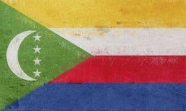Flag of Comoros Grunge Royalty Free Stock Photography