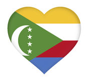 Flag of  Comoros Heart Royalty Free Stock Images