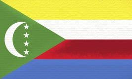 Flag of Comoros Wall. Royalty Free Stock Photography