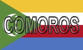 Flag of Comoros Word Stock Photos