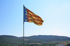 Flag of Comunidad Valenciana Royalty Free Stock Photography