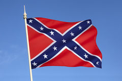 Flag of the Confederate States of America. The Confederate Army battle flag. Despite never having historically represented the C.S.A. it is commonly referred to Royalty Free Stock Images