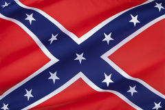 Flag of the Confederate States of America. The Confederate Army battle flag. Despite never having historically represented the C.S.A. it is commonly referred to Royalty Free Stock Image