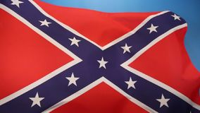 Flag of the Confederate States of America stock video