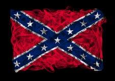 Confederate National Flag of smoke Royalty Free Stock Photos