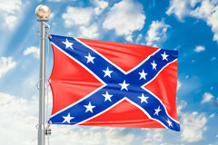 Flag of the Confederate States of America, 3D rendering Royalty Free Stock Photos