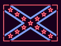 Flag Confederate States of America neon sign. Vector Royalty Free Stock Photo