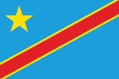 Flag-Congo Royalty Free Stock Photo