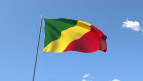 Flag of Congo stock video