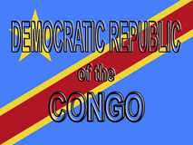 Flag of the Congo Royalty Free Stock Photography