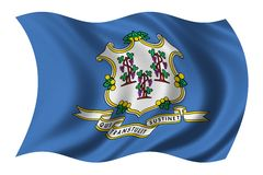 Flag of Connecticut Royalty Free Stock Images