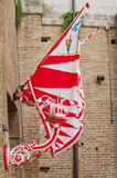 The flag of Contrade of Giraffe. Siena, Palio Royalty Free Stock Image