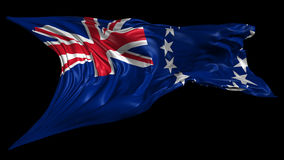 Flag of Cook Islands stock video