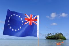 The flag of the Cook Islands stock photos