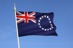 Flag of the Cook Islands - South Pacific royalty free stock photos