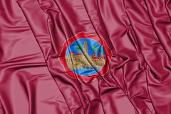 Flag of Cordoba City Andalusia, Spain. 3D Illustration. Stock Photos