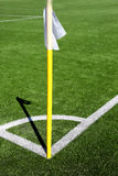 Flag on the corner of football field with shadow Royalty Free Stock Image