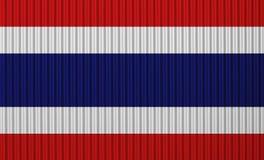 Flag on corrugated iron Stock Photos