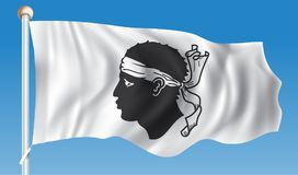 Flag of Corsica. Vector illustration Royalty Free Stock Image