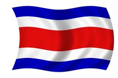 Flag of costa rica. Waving flag of costa rica Royalty Free Stock Image