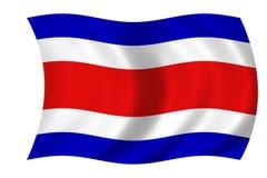 Flag of costa rica. Waving flag of costa rica stock illustration