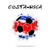 Flag of Costa-Rica as an abstract soccer ball. Abstract soccer ball painted in the colors of the Costa-Rica flag. Vector illustration Stock Photos
